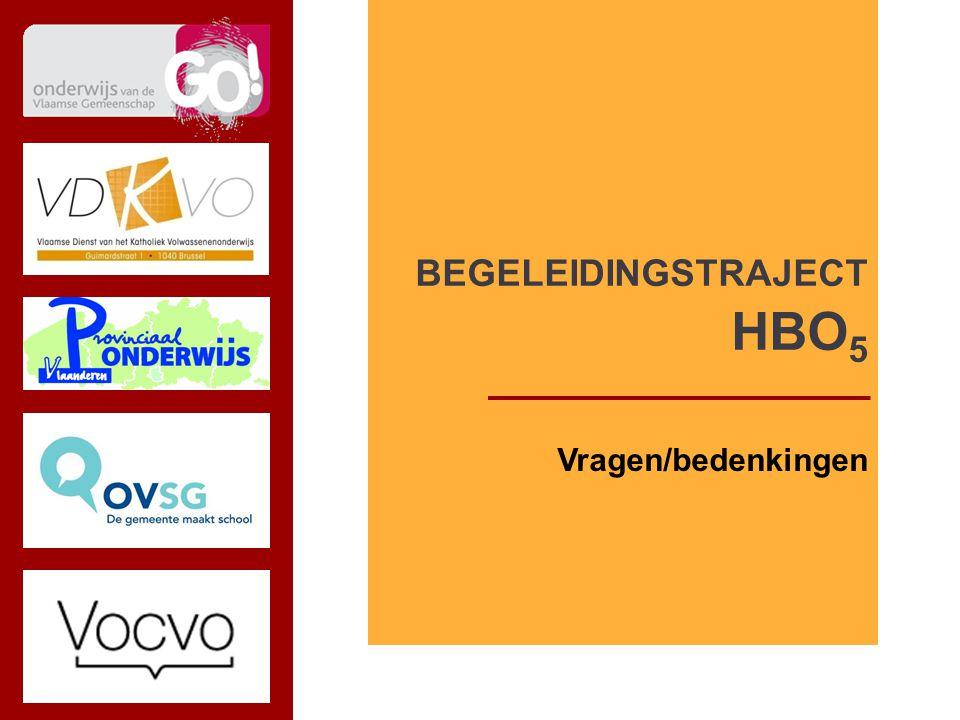 subtitel TITEL VDKVO i.s.m. DNI Vragen/bedenkingen BEGELEIDINGSTRAJECT HBO 5