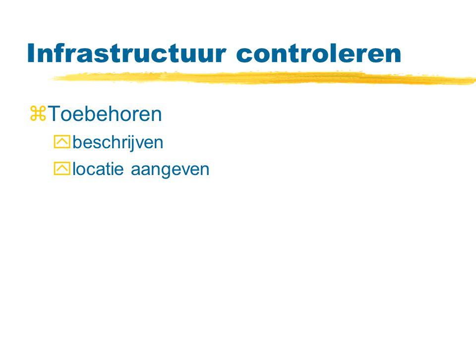 Infrastructuur controleren zToebehoren ybeschrijven ylocatie aangeven