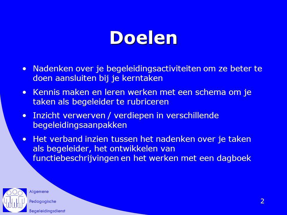 Algemene Pedagogische Begeleidingsdienst 3 Kerntaken en overheid Beleidsnota 2.3.8.
