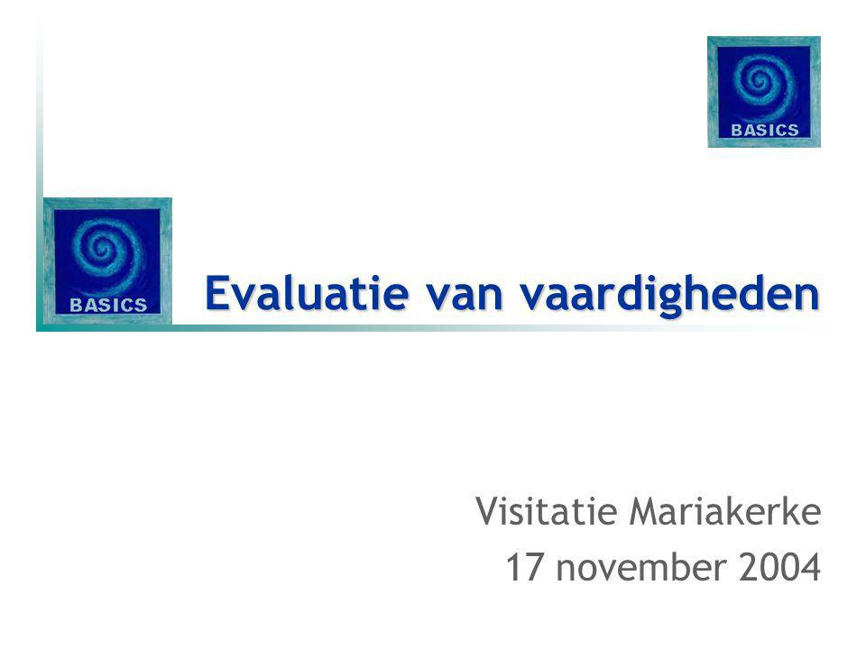Evaluatie van vaardigheden Visitatie Mariakerke 17 november 2004