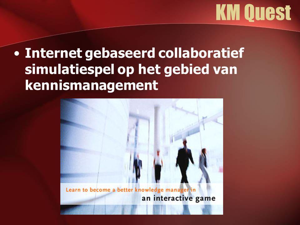 KM Quest Internet gebaseerd collaboratief simulatiespel op het gebied van kennismanagement