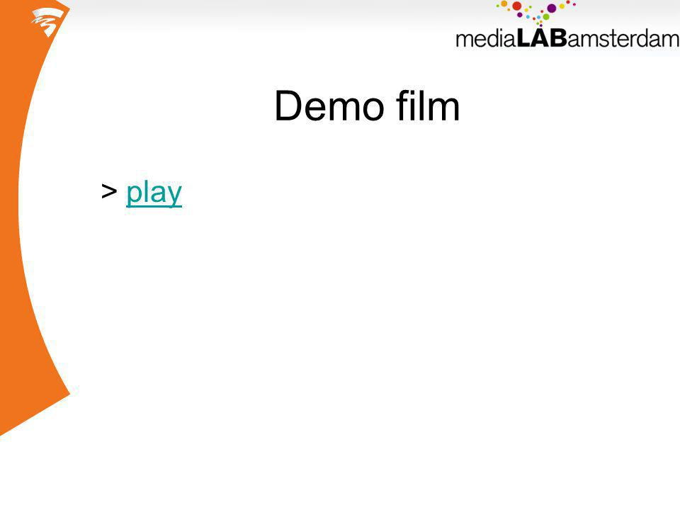 Demo film >playplay