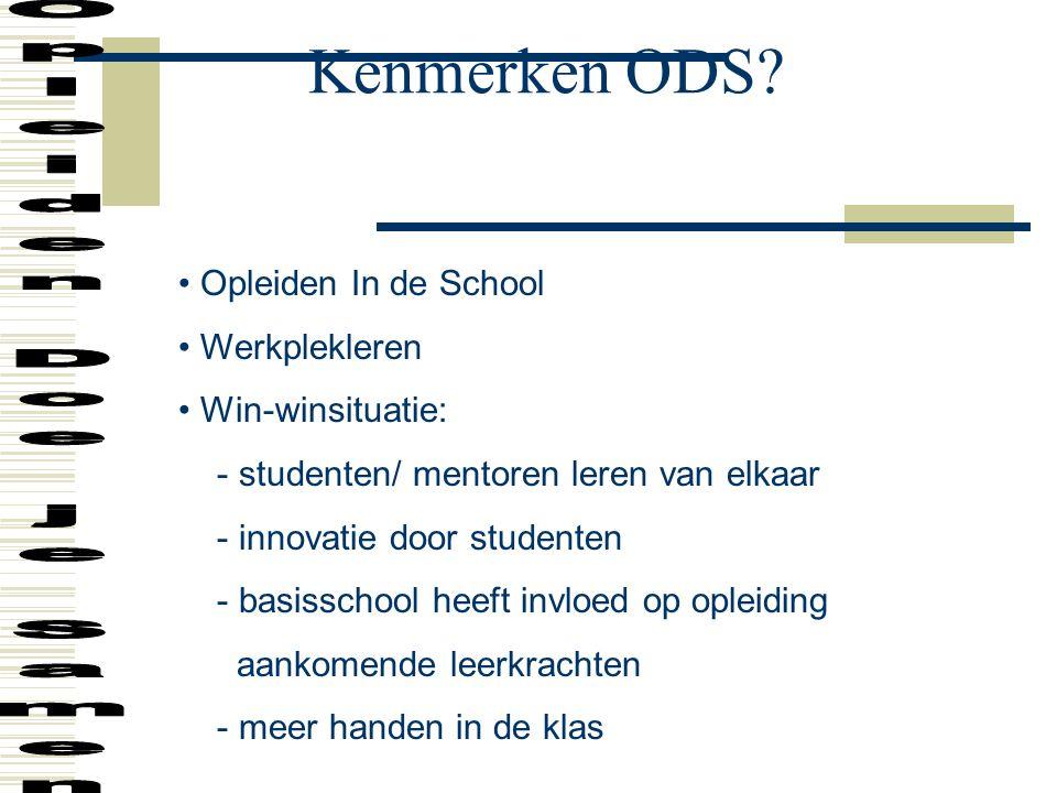 Kenmerken ODS.