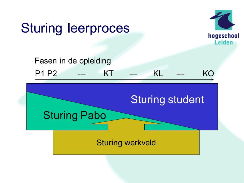 Het curriculum Keuze uit aanbod Pabo (P1P2) Keuze met begeleiding van buiten de opleiding (KT,KL) Keuze met begeleiding vanuit Pabo (KT,KL,KO) Keuze met begeleiding vanuit Pabo en werkveld (KL,KT,KO)