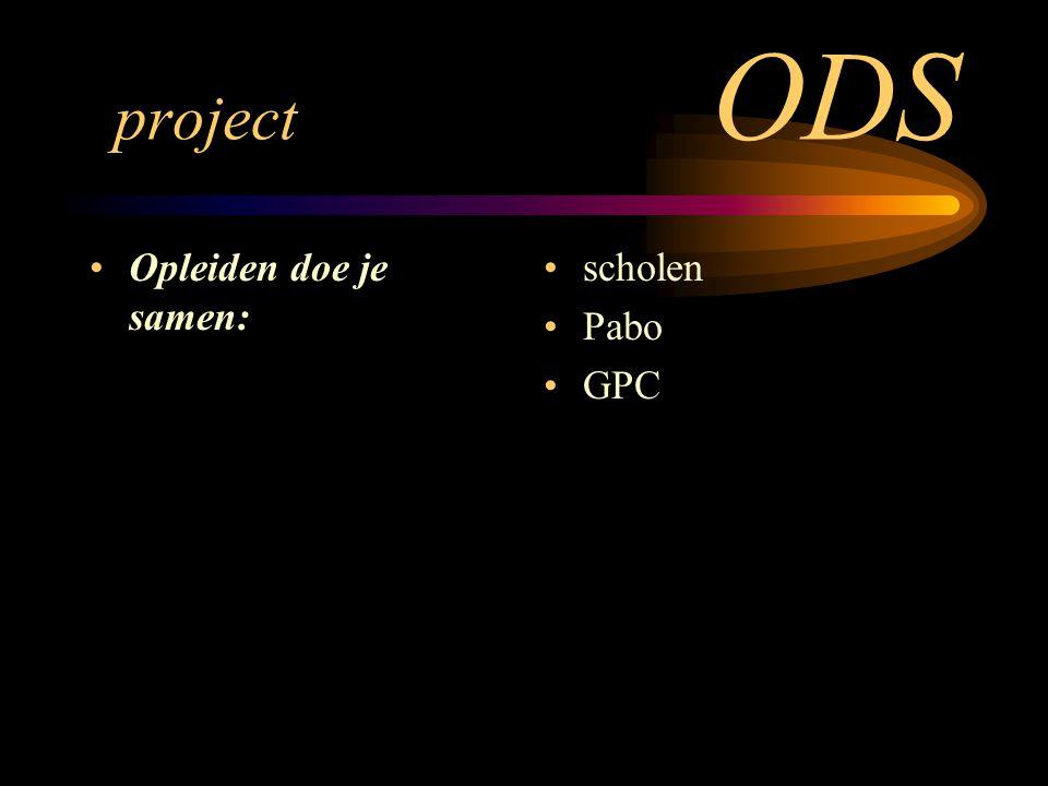 project ODS Opleiden doe je samen: scholen Pabo GPC