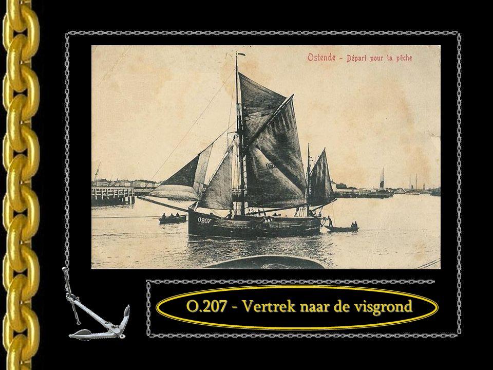 De vissersloep O.207 in 1911