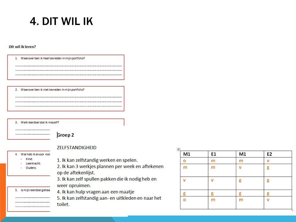 4. DIT WIL IK