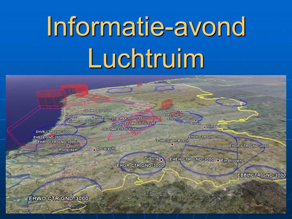 Nieuwe TMZ's, AIC 04/08 Situatie van 05 juni 2008 t/m 31 maart 2009 Per 05 juni 2008 zijn de volgende Transponder Mandatory Zones altijd actief: TMZ Eelde: 1500 ft en hoger (E) TMZ Maastricht: 1500 ft en hoger (D) TMZ A: FL 065 en hoger (B) TMZ C: FL 065 en hoger (B) TMZ D North: FL 065 en hoger (B) TMZ D South: 2500 ft en hoger (E) TMZ E: FL 065 en hoger (B) TMZ Rotterdam: 2500 ft en hoger (E) De TMZ Eindhoven en de Caution Area Rotterdam zijn vervallen.