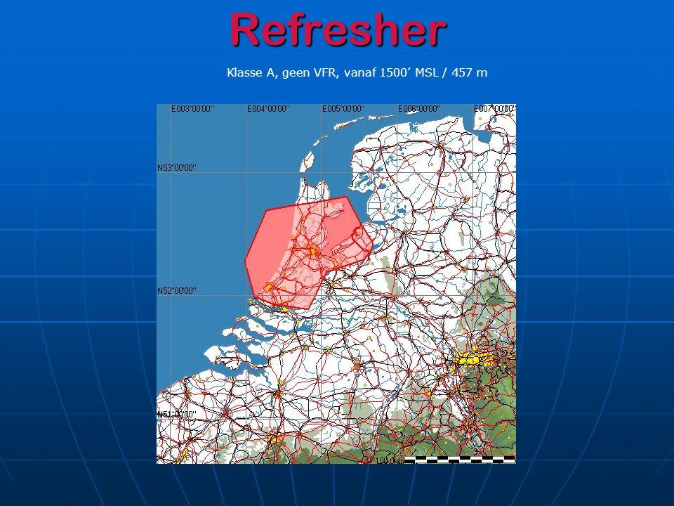 Fase 1 05 juni 2008 – 31 maart 2009 Situatie vanaf FL045 / 1372 m exclusief CTR's en Restricted Area's
