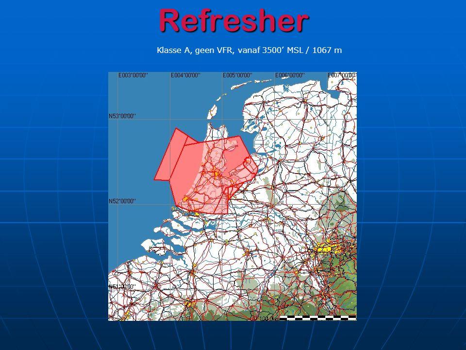 Luchtruimstructuur D Verschillen met NL Restricted Area's: Restricted Area's: Vaak alleen per NOTAM actief…zie kaart.