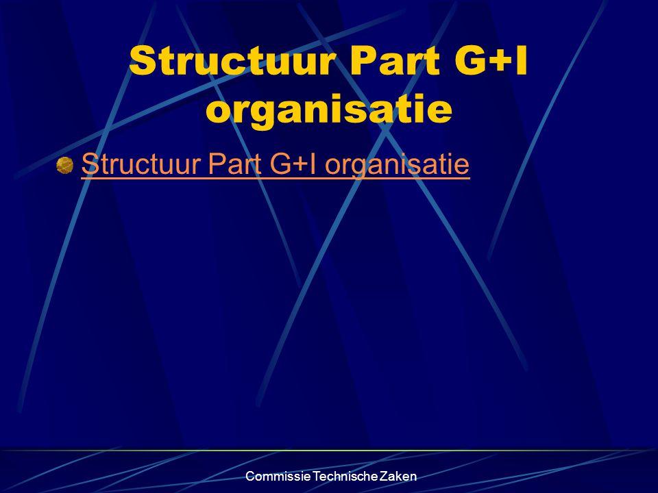 Commissie Technische Zaken Structuur Part G+I organisatie