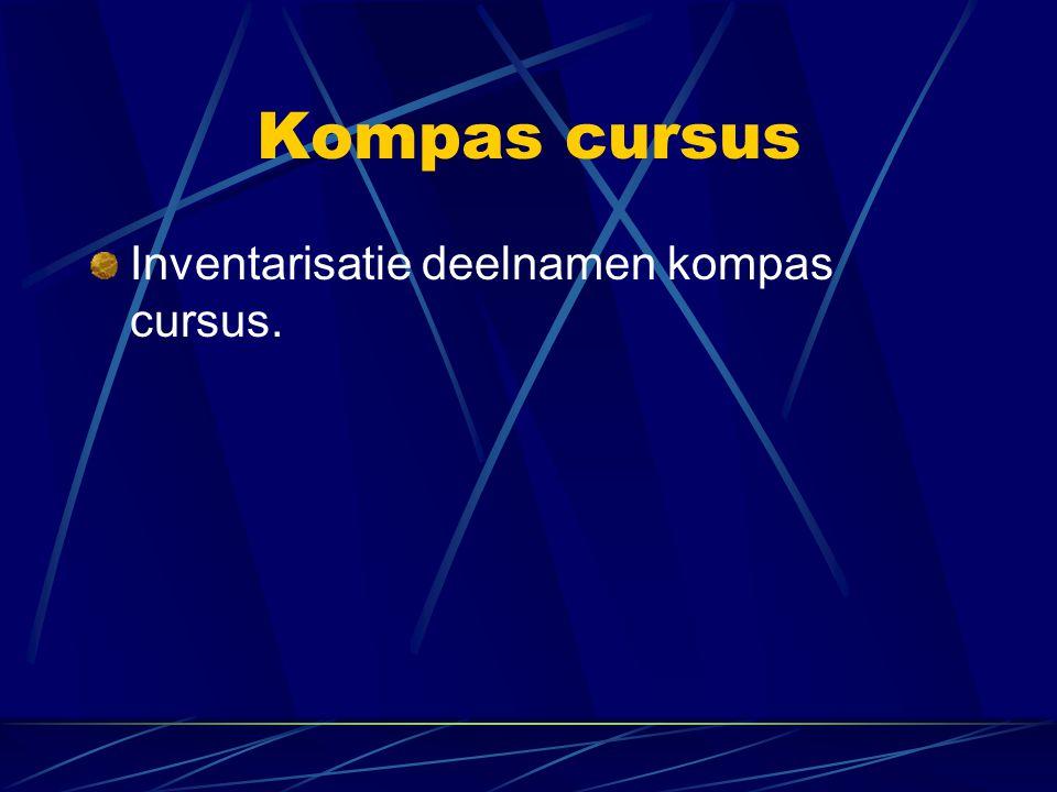 Kompas cursus Inventarisatie deelnamen kompas cursus.