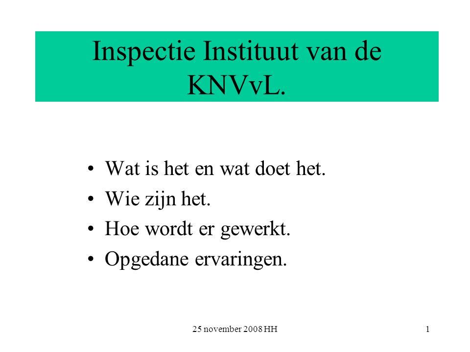 25 november 2008 HH2 Inspectie Instituut.Wat is het en wat doet het.