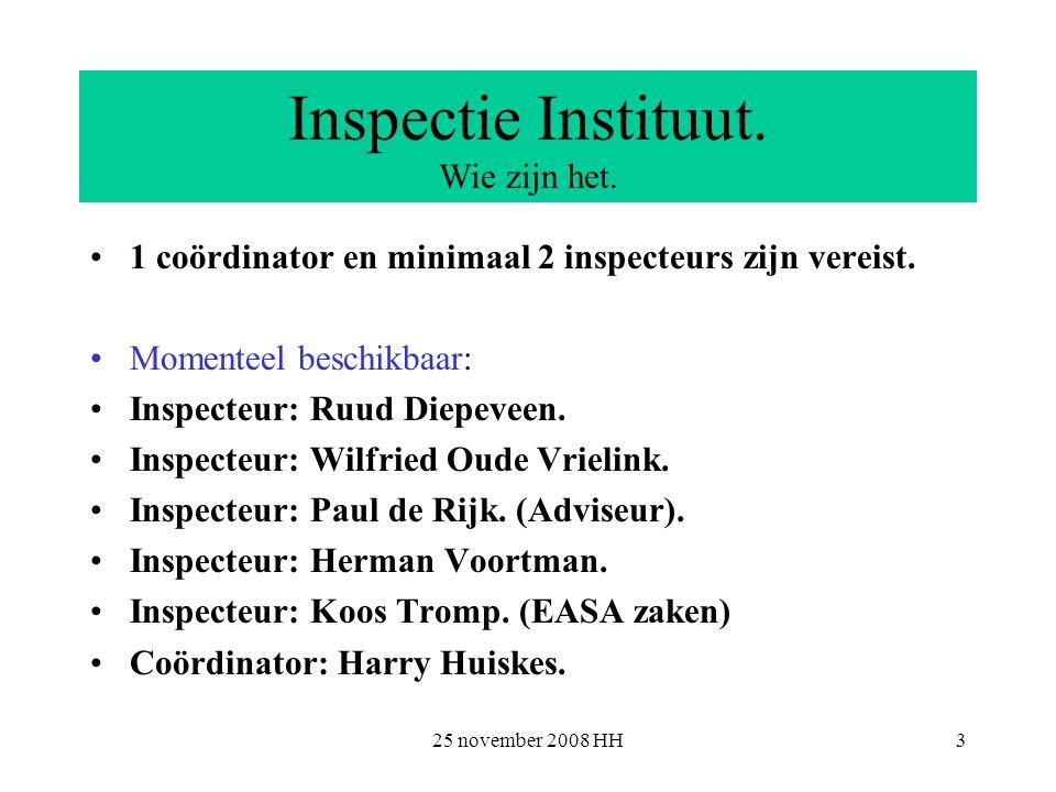 25 november 2008 HH3 Inspectie Instituut. Wie zijn het.