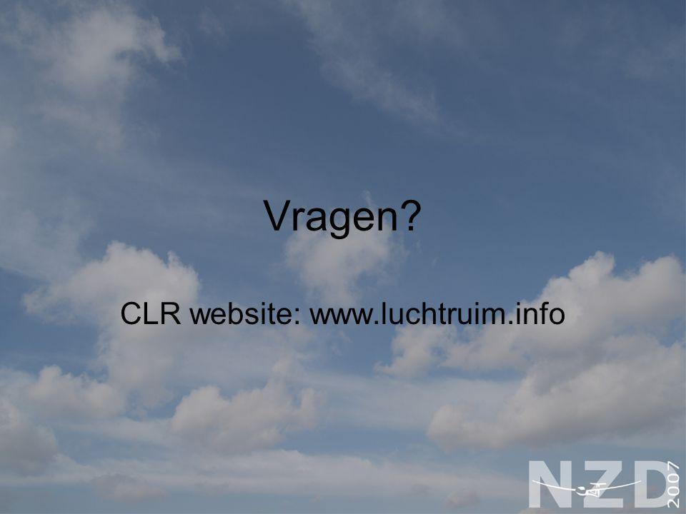 Vragen? CLR website: www.luchtruim.info