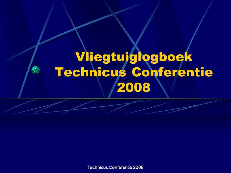 Technicus Conferentie 2008 Inhoud presentatie Waarom een apart logboek voor zwevers.