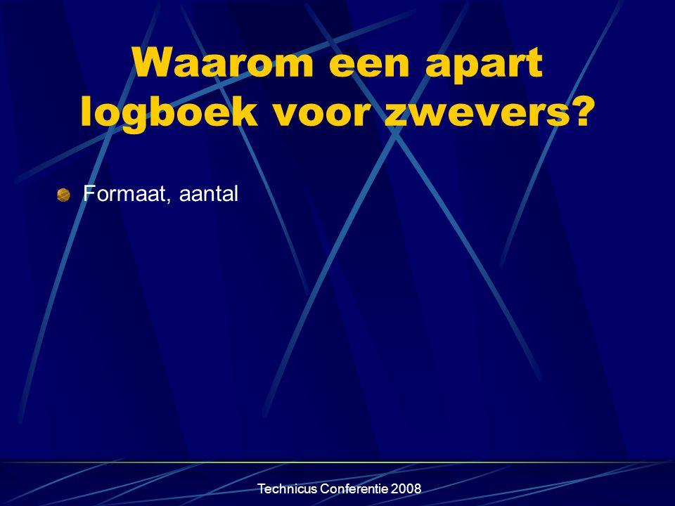 Technicus Conferentie 2008 Waarom een nieuw logboek? Inwerkingtreding Part M