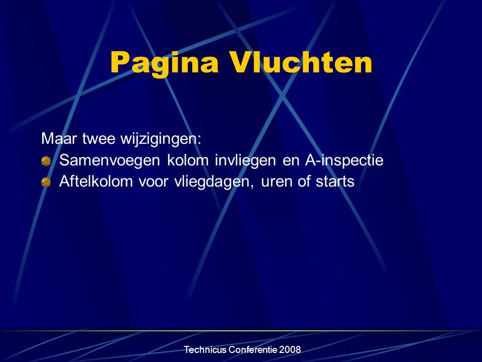 Technicus Conferentie 2008 Verdwenen pagina's B,C,D-inspecties, revisies en reparaties Instrumenten, radio, zuurstof, weging etc Door IVW verplicht gestelde wijzigingen Niet verplichte wijzigingen