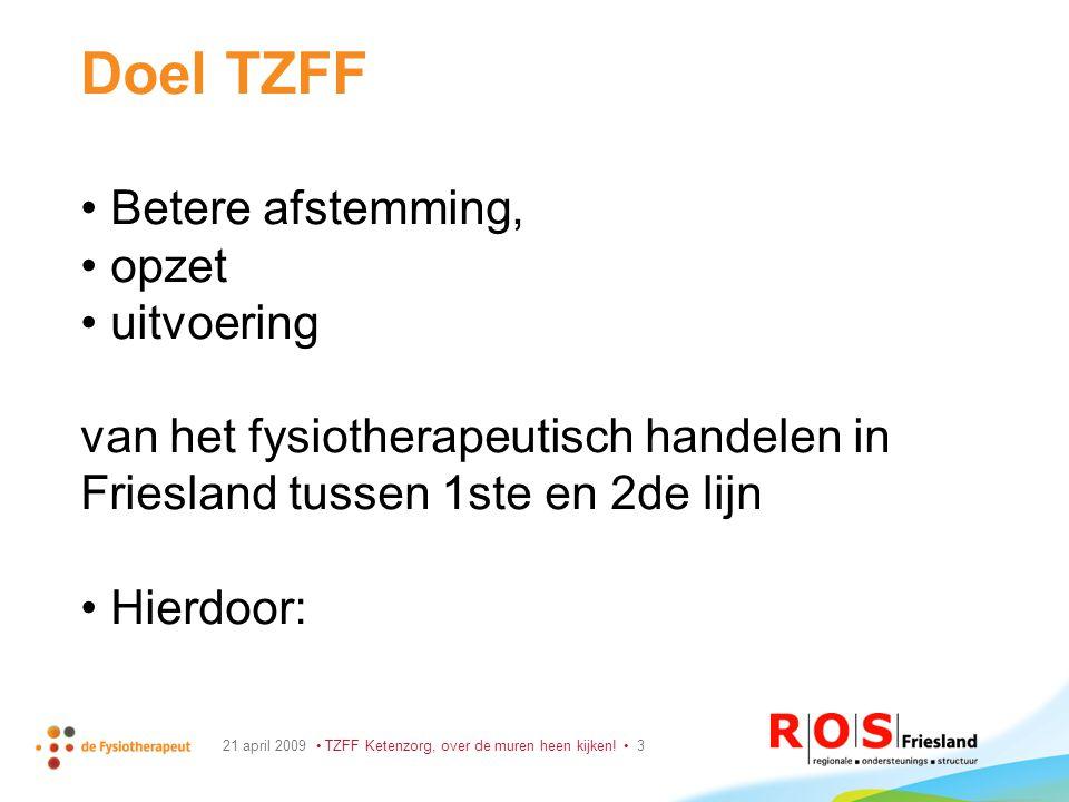21 april 2009 TZFF Ketenzorg, over de muren heen kijken.