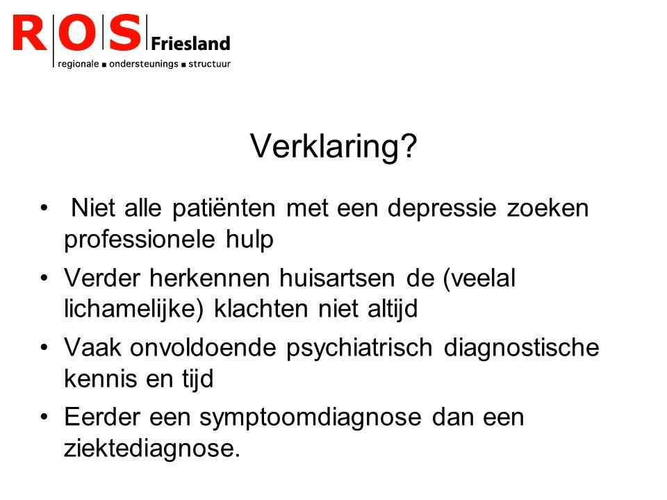 Stepped care model Huisarts maakt onderscheid tussen ernstige en niet ernstige depressies.