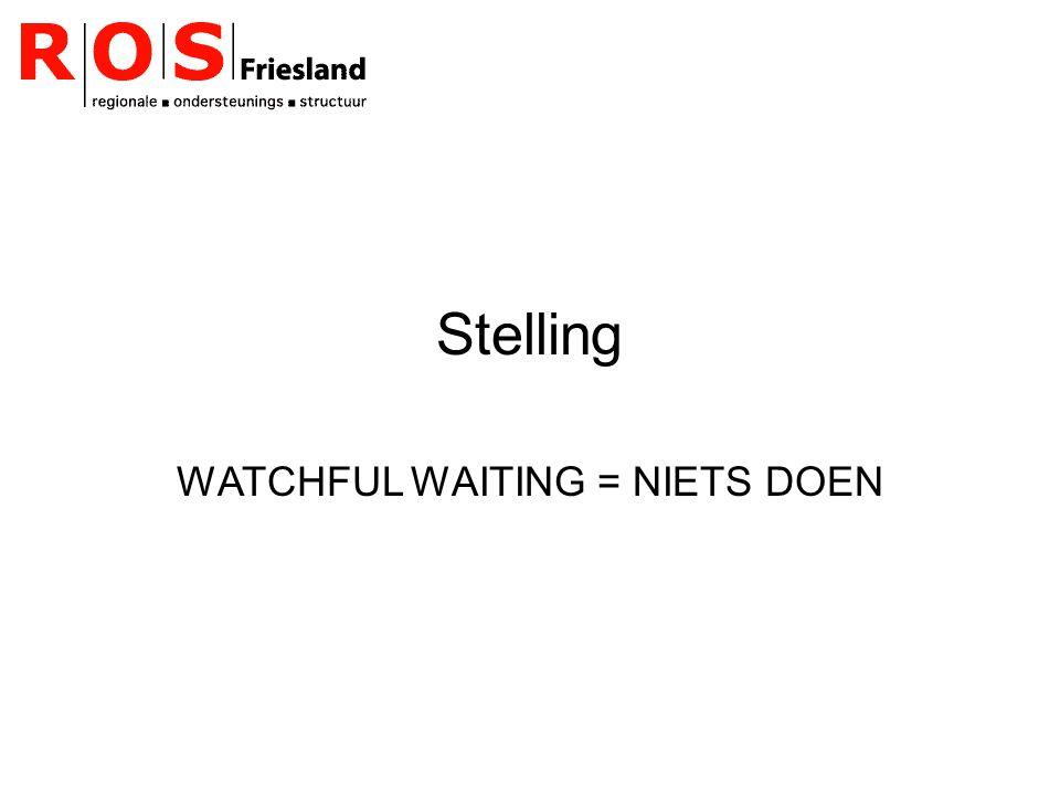 Stelling WATCHFUL WAITING = NIETS DOEN