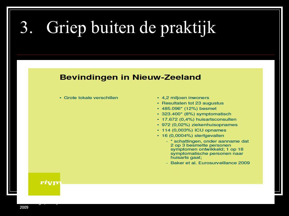 Frank Zwager, 14 september 2009 3.Griep buiten de praktijk