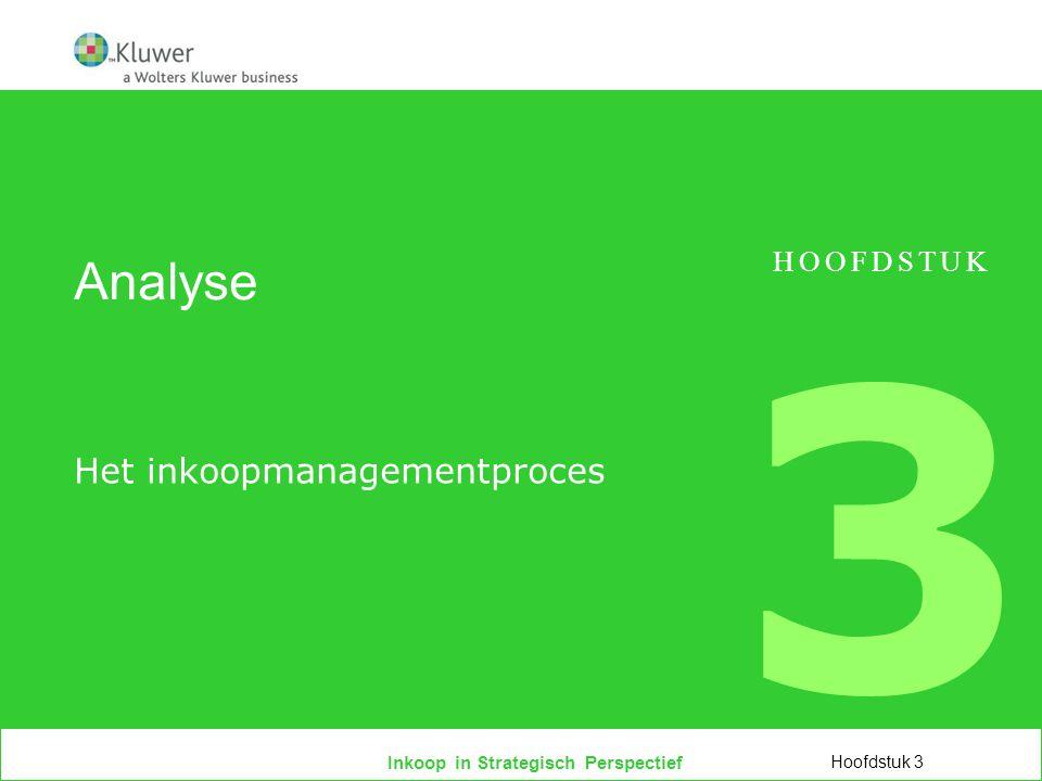 Inkoop in Strategisch Perspectief Analyse Het inkoopmanagementproces Hoofdstuk 3 HOOFDSTUK 3