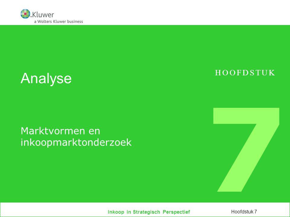 Inkoop in Strategisch Perspectief Analyse Marktvormen en inkoopmarktonderzoek Hoofdstuk 7 HOOFDSTUK 7