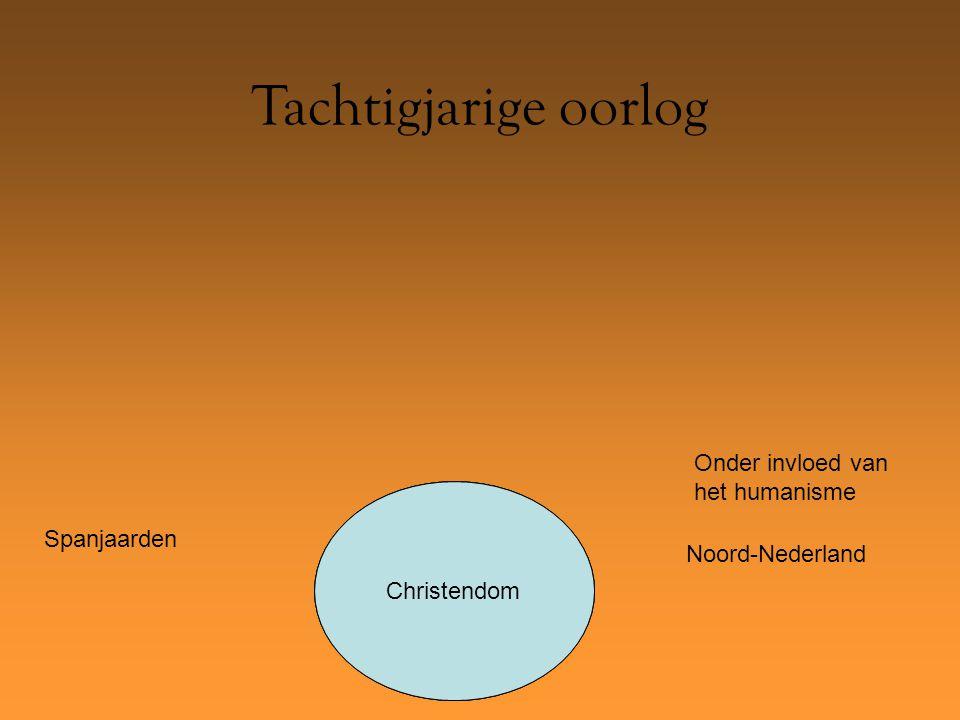 Protestantisme Tachtigjarige oorlog KatholiekenChristendom Onder invloed van het humanisme Spanjaarden Noord-Nederland