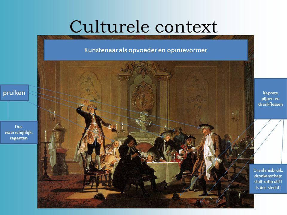 Culturele context Montesquieu hier: ik pleitte voor verdraagzaamheid en godsdienstvrijheid. Ratio en kennis moesten ervoor zorgen dat mensen (van de b