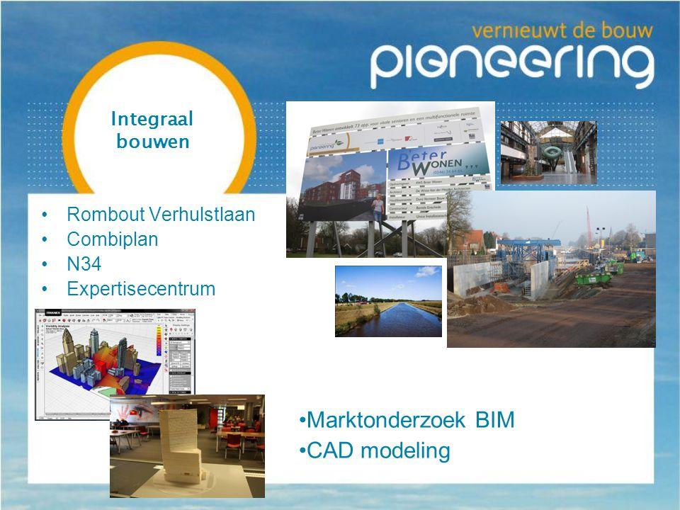 Integraal bouwen Rombout Verhulstlaan Combiplan N34 Expertisecentrum Marktonderzoek BIM CAD modeling