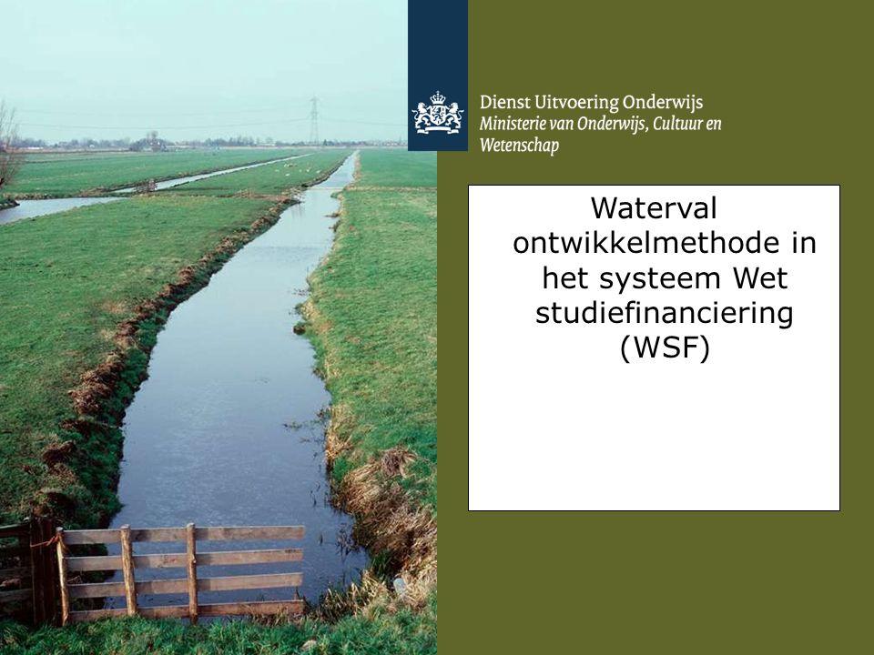 Waterval ontwikkelmethode in het systeem Wet studiefinanciering (WSF)