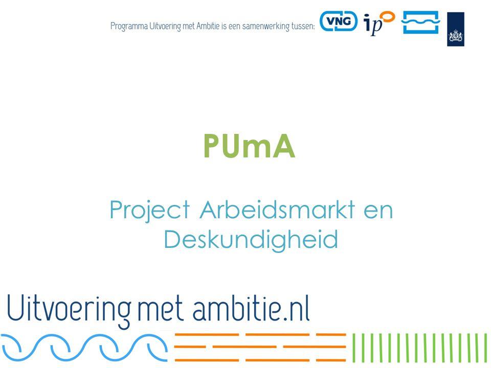 PUmA Project Arbeidsmarkt en Deskundigheid