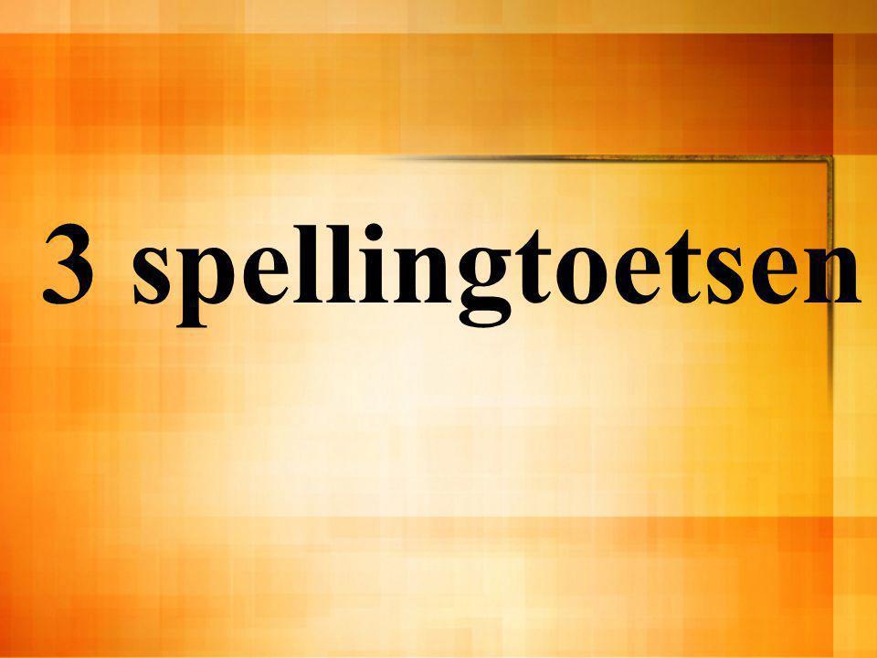 3 spellingtoetsen