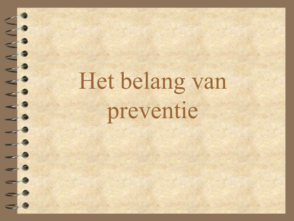Het belang van preventie