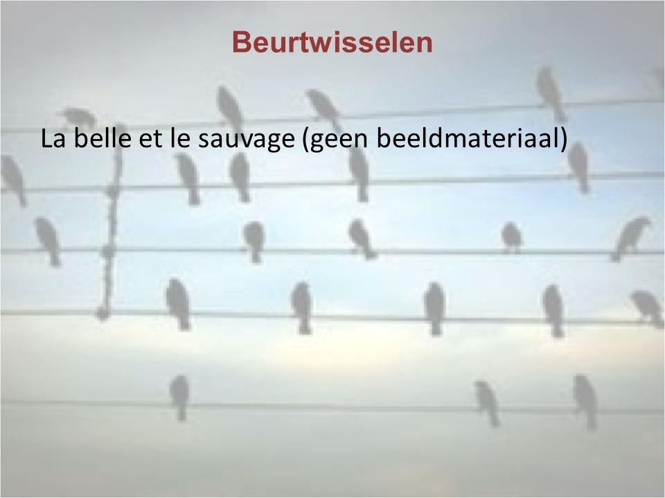 Beurtwisselen La belle et le sauvage (geen beeldmateriaal)