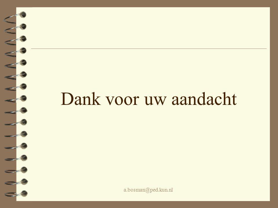 a.bosman@ped.kun.nl Dank voor uw aandacht