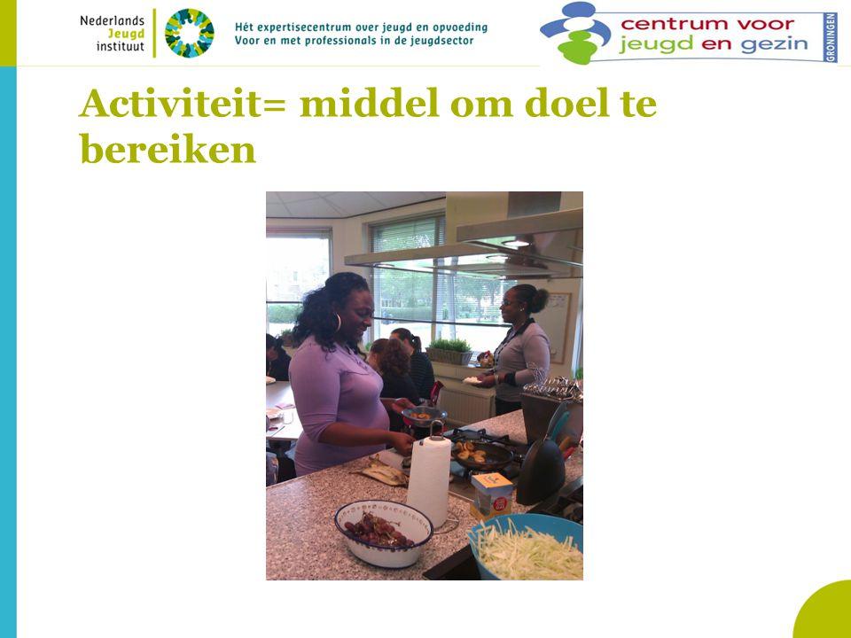 Activiteit= middel om doel te bereiken