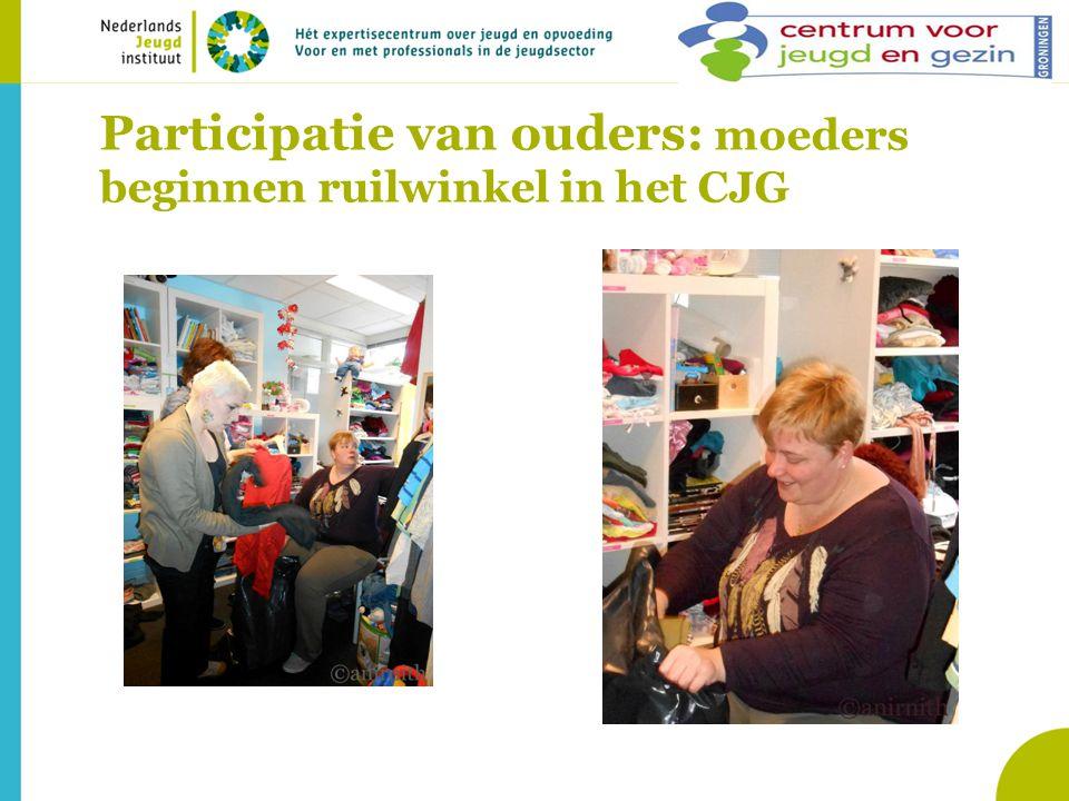 Participatie van ouders: moeders beginnen ruilwinkel in het CJG