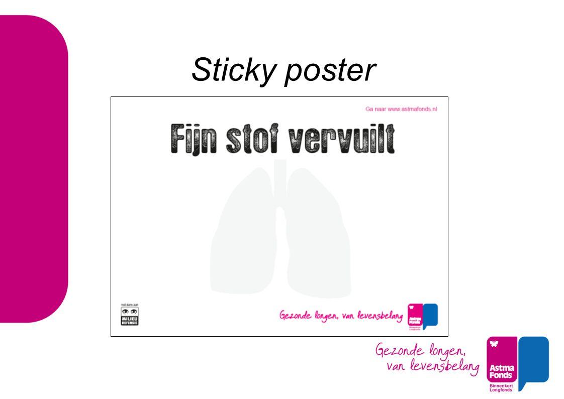 Sticky poster
