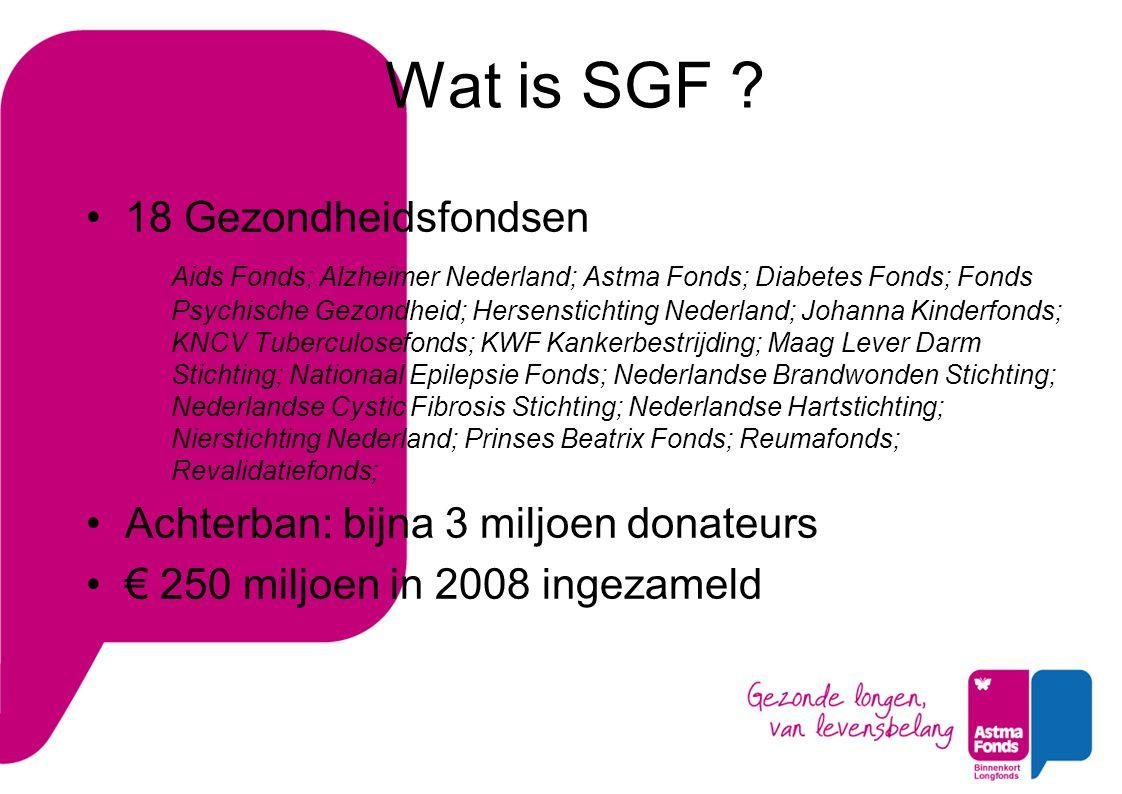 Wat doet SGF .