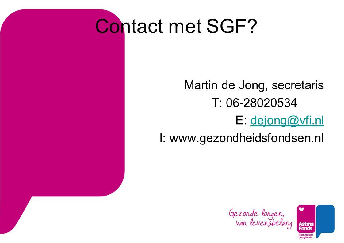 Contact met SGF.