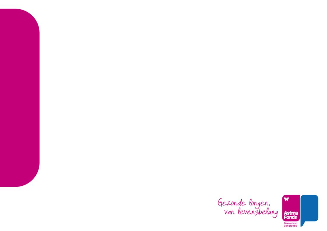 Astma Fonds als maatschappelijke partij Arnoud & Ellie Gezonde leefomgeving Bewegen; aanbod, zelfmanagement, vergoeding Roken; horeca, school(plein), stoppen-met-roken Binnenlucht; scholen, crisis-investering 2009 Buitenlucht; RO, mobiliteit Campagne 'Vuile lucht verziekt je lonen' NSL Gemeenteraadsverkiezingen 3 maart Lokale maatregelen / GGD's Samenwerking lokaal met Astma Fonds