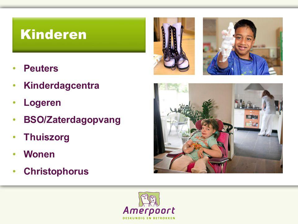 Peuters Kinderdagcentra Logeren BSO/Zaterdagopvang Thuiszorg Wonen Christophorus Kinderen