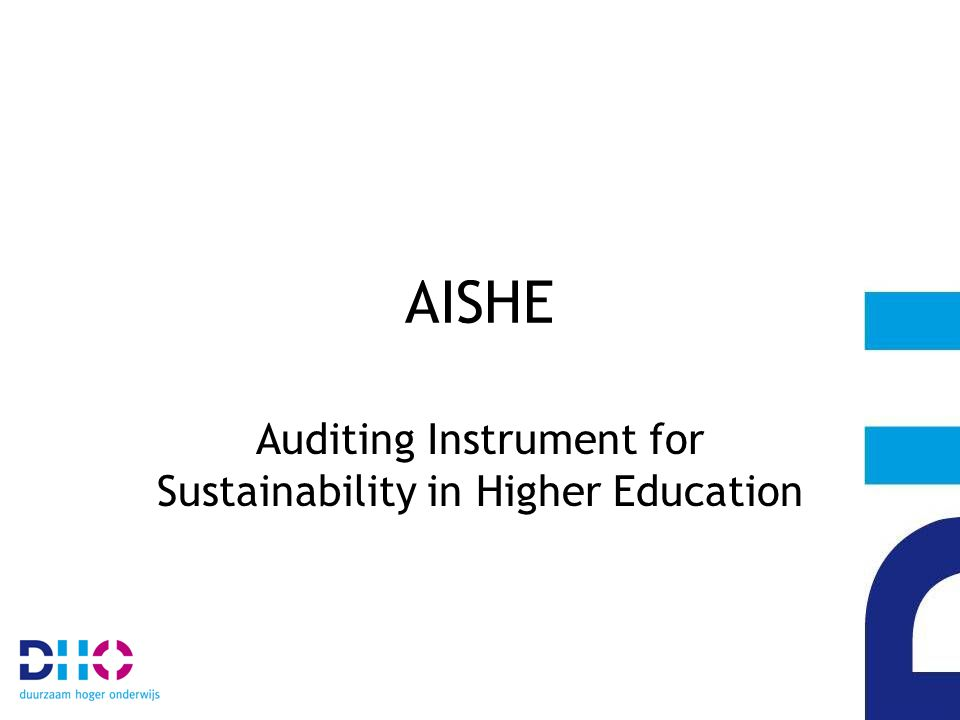 Wilt u….weten waar uw opleiding staat met de integratie van duurzame ontwikkeling.