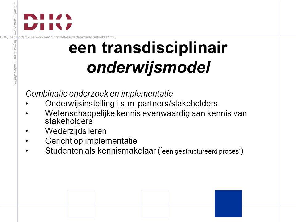 Combinatie onderzoek en implementatie Onderwijsinstelling i.s.m.