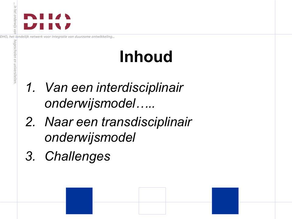 1.Van een interdisciplinair onderwijsmodel…..