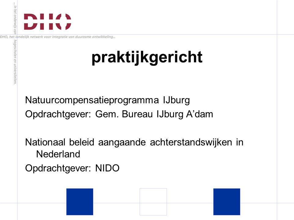Natuurcompensatieprogramma IJburg Opdrachtgever: Gem.