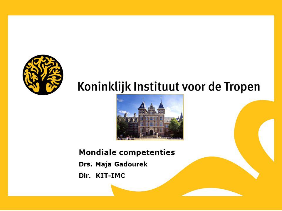 Mondiale competenties Drs. Maja Gadourek Dir. KIT-IMC