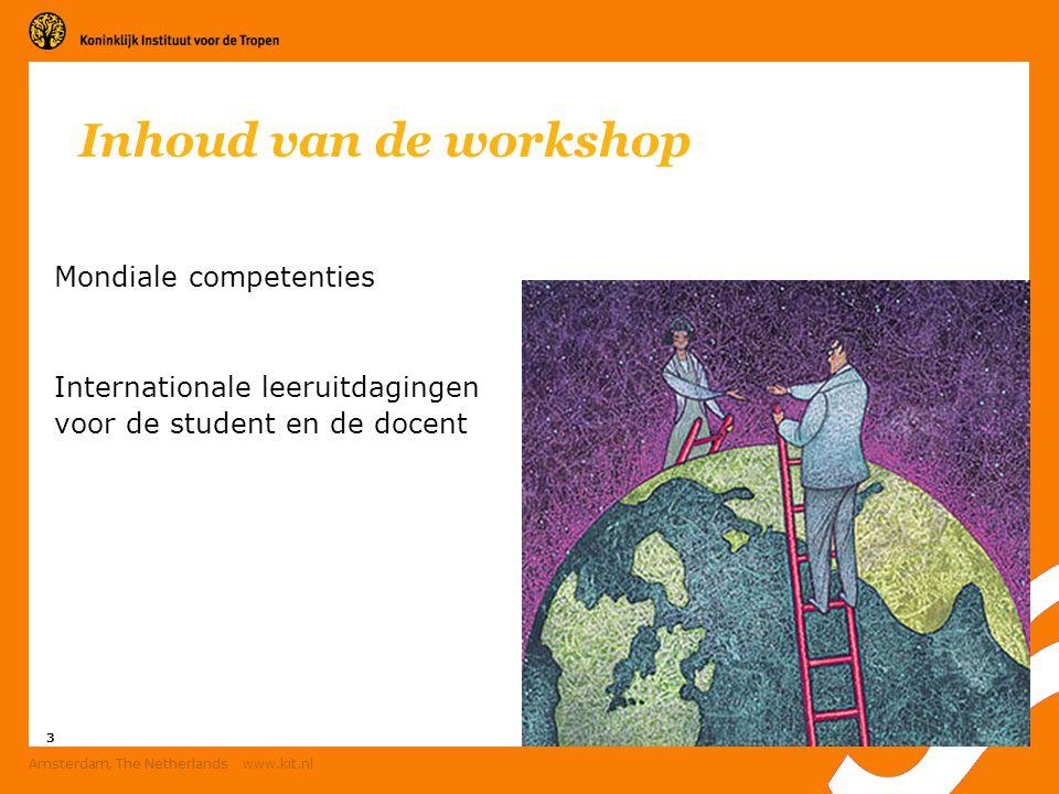 4 Amsterdam, The Netherlands www.kit.nl Mondiale competenties Maatwerk per vak en per functie Hoe manage ik een land.